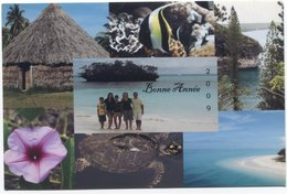 200- Bonne Année De Nouvelle Calédonie - Differents Foto Sur Carte - Nouvelle-Calédonie