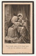 Décès Jules LAVAL Veuf Léocadie Delry Echevin Baillonville 1878 - 1930 - Images Religieuses