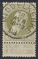 """Grosse Barbe - N°75 Obl Simple Cercle """"Middelkerke"""". Superbe Centrage - 1905 Barbas Largas"""