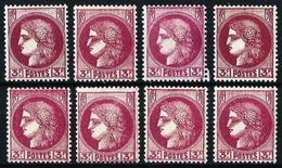 Francia Nº 376 (8 Sellos Con Algunas Diferencias) Nuevo - Unused Stamps