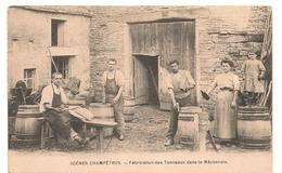 Maconnais - Scenes Champetres - Fabrication Des Tonneaux Dans Le Maconnais - RARE -  CPA° - Autres Communes