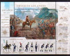 Argentina 2017 Crossing Andes Horses SS MNH - Horses