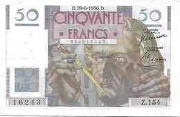 France 50 Francs Le Verrier - 29-6-1950 - 1871-1952 Anciens Francs Circulés Au XXème