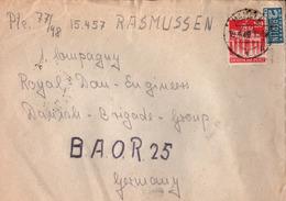 ! 1949 Brief Von Hameln An Danish Brigade Group B.A.O.R 25, Feldpost Dänische Brigade, Bizone, Fieldpost - Bizone
