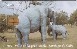 CUBA - Prehistoric Valley 3,  Tirage 30.000, 04/00, Used - Kuba