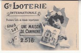 Illustrateur - Bergeret - Publicité - Grande Loterie Internationale - Gros Lot Une Maison De Campagne - Publicité