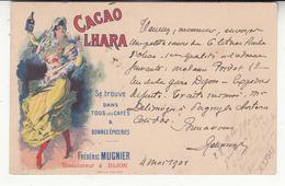 Illustrateur - Publicité - Alcool - Cacao Lhara - Frédéric Mugnier - Distillateur à Dijon - Werbepostkarten