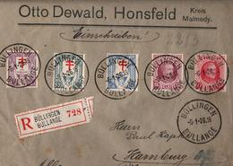! 1926 Einschreiben Büllingen Bullange, Recommande, Tuberculose Marken - Briefe U. Dokumente