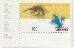 PIA - GER- 2000 : Ex Po 2000 Ad Hannover - (Yv 1920) - [7] Repubblica Federale