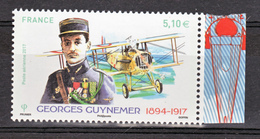 France PA  81 A Guynemer  2017 Avec Bord De Feuille (feuille De 10) Neuf ** TB MNH Sin Charnela Faciale 5.1 - Poste Aérienne