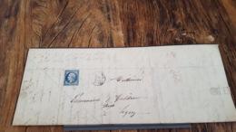 LOT 469447 TIMBRE DE FRANCE OBLITERE SUR PAPIER VERT BLOC - 1853-1860 Napoleon III