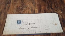LOT 469448 TIMBRE DE FRANCE OBLITERE SUR PAPIER VERT BLOC - 1853-1860 Napoleon III