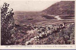 74 SAINT-GERVAIS-LES-BAINS Le Fayet Vu Du Chemin De Fer à Crémaillère - Saint-Gervais-les-Bains