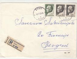 Yugoslavia Letter Cover Travelled Registered 1969 Žman To Beograd B190901 - Kroatien