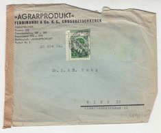 AGRARPRODUKT Ferdinandi & Co.K.G., Grossbetschkerek Company Letter Cover Travelled 1942 To Wien B190901 - Serbia