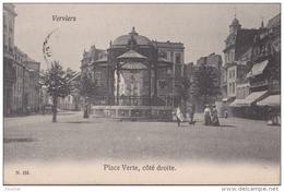 VERVIERS - PLACE VERTE , CÔTÉ DROITE - (ANIMEE - OBLITERATION DE 1905 - 2 SCANS) - Verviers