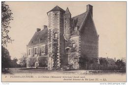 B23- 37) PLESSIS  LES TOURS  - LE CHATEAU -  FACADE OUEST - (2 SCANS) - Sonstige Gemeinden