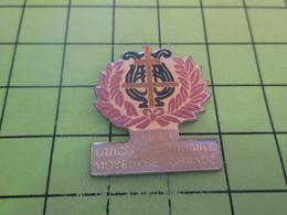613f PINS PIN'S / Beau Et Rare : Thème MUSIQUE / FANFARE UNION LORRAINE MOYEUVRE GRANDE - Musique
