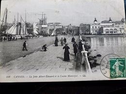 CARTE POSTALE _ CPA VINTAGE : CANNES _ La Jetée Albert Edouard & Le Casino Municipal _ 1913   // CPA.VIDAL.L3.10 - Cannes