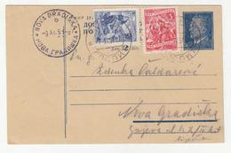 Yugoslavia FNR Postal Stationery Postcard Dopisnica Travelled 1951 Gospić To Nova Gradiška B190901 - Kroatien