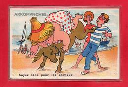 14-CPA ARROMANCHES - CARTE A SYSTEME DE 10 VUE DE ARROMANCHES - Arromanches