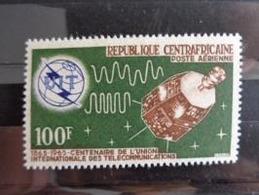 REPUBLIQUE CENTRAFRICAINE P.A. 1965 Y&T N° 32 ** - CENTENAIRE DE L'U.I.T - Zentralafrik. Republik