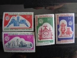 REPUBLIQUE CENTRAFRICAINE 1969 Y&T N° 47 à 50 ** - CENTENAIRE DE L' U.I.T. - Zentralafrik. Republik