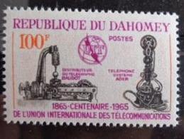 DAHOMEY 1965 Y&T N° 222 ** - CENTENAIRE DE L'U.I.T. - Benin - Dahomey (1960-...)