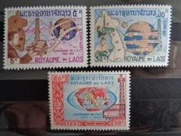 LAOS  1965 Y&T N° 114 à 116 ** - CENTENAIRE DE L' U.I.T. - Laos