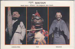 "BHUTAN - Mask Dance ""Bardo"", Chinda Peki, Teo, Nelbum  Large Format  Nice Stamp - Butan"