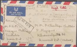 BURMA/ MYANMAR -  1953 - AIRMAIL, REGISTERED COVER  TANTABIN - INSEIN TO  KILASAVALPATTI ,INDIA - Myanmar (Burma 1948-...)