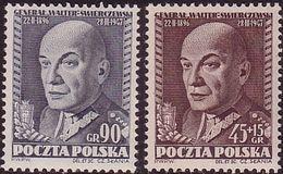 1952 Poland, Mi 725 - 726, WW II, General K. Swierczewski, Walter, Slania, Politikir,  MNH** - Ungebraucht