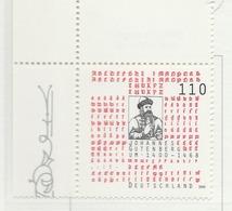 PIA - GER- 2000 : 6° Centenario Della Nascita Di J.Gutenberg, Inventore Della Stampa A Caratteri Mobili  - (Yv 1930) - Nuovi
