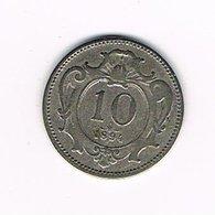 //  OOSTENRIJK  10  HELLER  1894 - Autriche