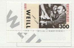 PIA - GER- 2000 : Centenario Della Nascita Del Compositore Kurt Weill  - (Yv 1932) - [7] Repubblica Federale