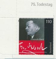 PIA - GER- 2000 : 75° Anniversario Della Morte Dello Statista Friedrich  Erbert  - (Yv 1933) - Nuovi