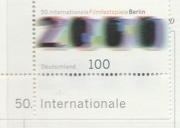 PIA - GER- 2000 : 50° Festival Del Cinema Di Berlino - (Yv 1934) - Nuovi