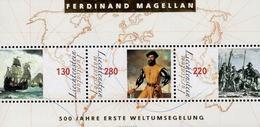 Liechtenstein - 2019 - 500 Years Of First World Circumnavigation - Mint Souvenir Sheet With Hot Foil Intaglio Imprint - Liechtenstein