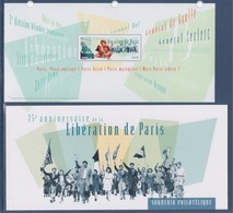= 75ème Anniversaire De La Libération De Paris Souvenir Philatélique Timbres à 1.30€ Feuillet Dans 1 Encart - Foglietti Commemorativi