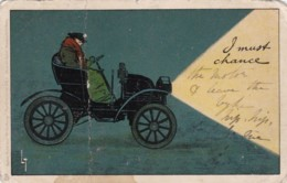 AN44 Raphael Tuck Write Away Postcard - Vintage Car - Early Undivided Back - Passenger Cars