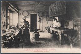 Saint Martin De Ligugé à Chevelogne , L'atelier Du Frère Serrurier , Animée - Ciney
