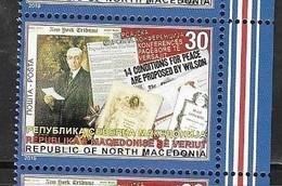 NORTH MACEDONIA, 2019, MNH, WWI, VERSAILLES TREATY, 1v - WW1