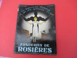 Catalogue-Tarif/ Fonderie/ Chauffage-Cuisine/ FONDERIES De ROSIERES/Bourges/ 1936   CAT255 - Altri