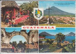 GUATEMALA, Vista Diverso, Indigenas, Antigua, Lago Atitlán  1979  Nice Stamp - Guatemala