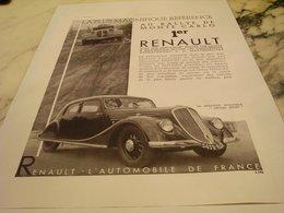 ANCIENNE PUBLICITE RALLYE MONTE CARLO ET RENAULT 1935 - Voitures