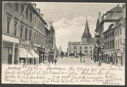 Bernburg, Markt. Karte Aus 1905, Nach Cöthen - Bernburg (Saale)