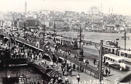 """CPSM  / PHOTO TURQUIE / ISTANBUL """"Pont De Galata"""" - Turquie"""