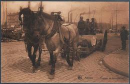 Anvers , Attelage De Chevaux De Corporation Tirant Une Charette De Futs  , Animée - Antwerpen