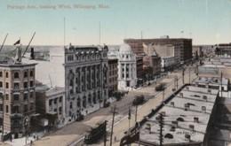 AM54 Portage Ave. Looking West, Winnipeg, Man. - Trams - Winnipeg