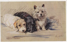 AS90 Animals - Dogs - Two's Company, Three's A Crowd - Signed MAC - Dogs